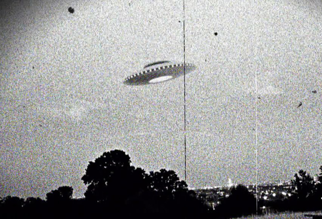 Black and white UFO