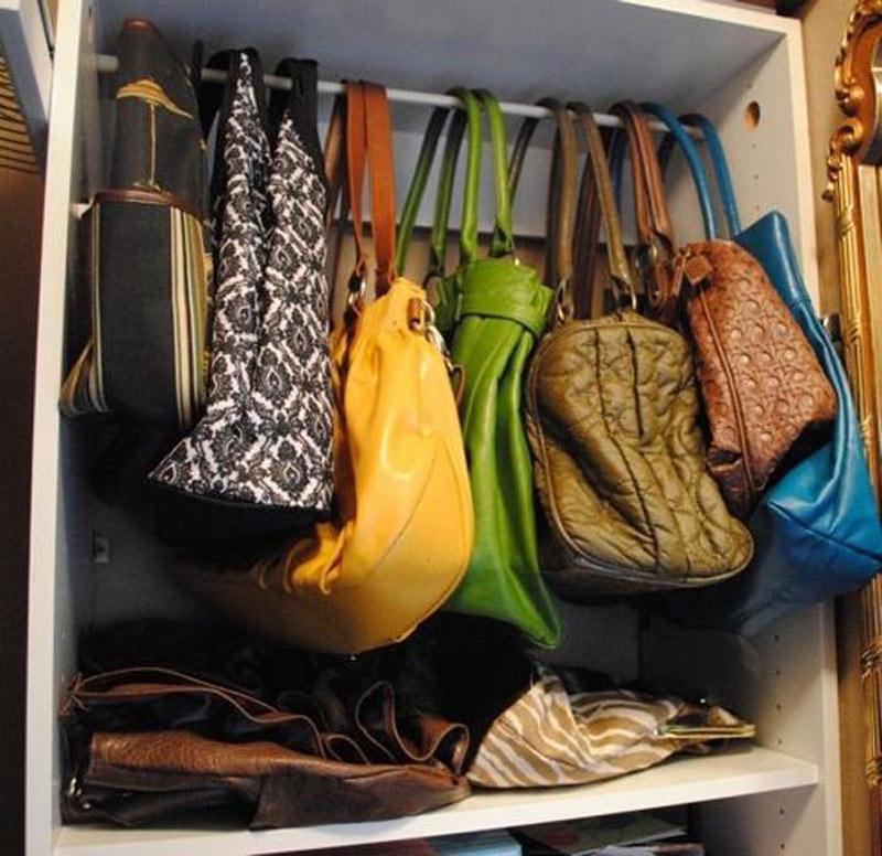 purses hanging
