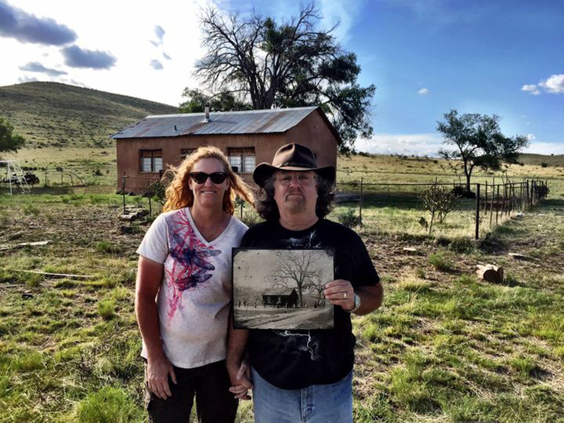 linda and randy holding the cool photo
