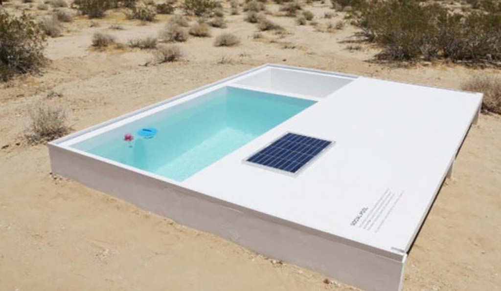 Pool in the middle of the desert
