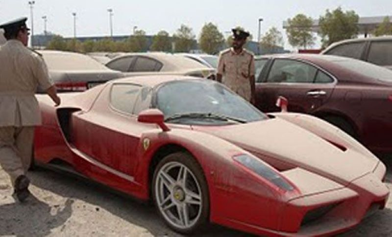Ferrari Enzo In The Dubai Desert