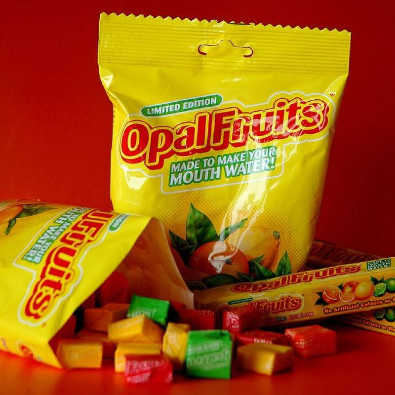 Starburst Candy Is Called Opal Fruits In The United Kingdom