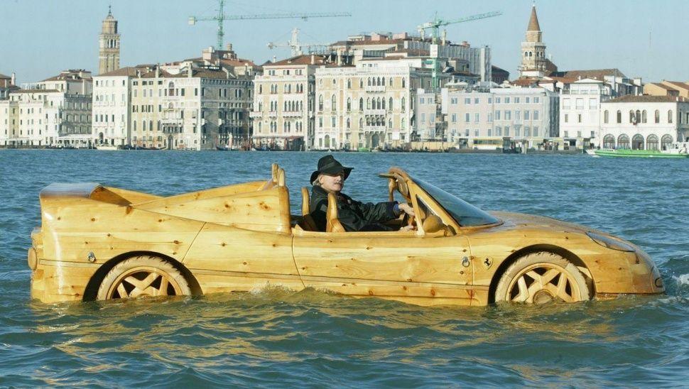 This Wooden Ferarri Boat
