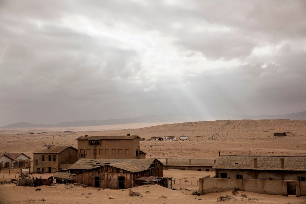 Ghost town in Namib Desert