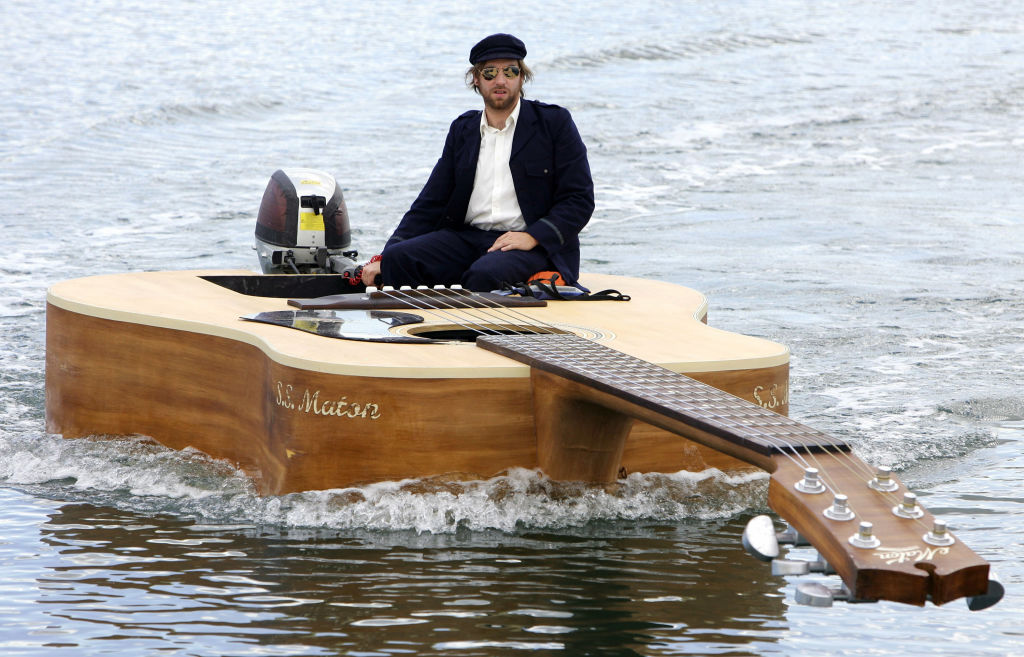 Josh Pyke's Customized Guitar Boat