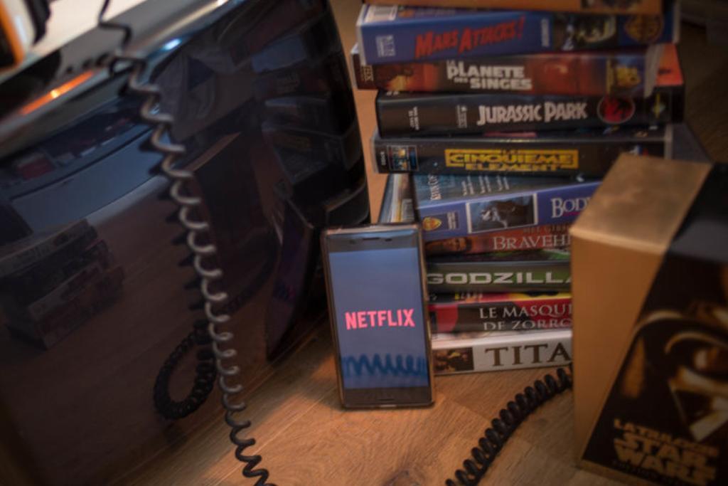 netflix-app-next-to-vhs-movies