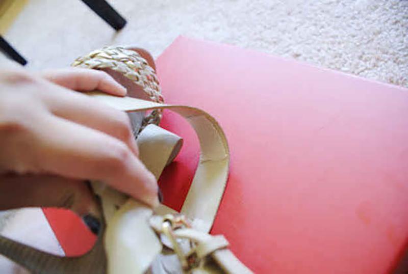 attaching-moleskin-to-shoe