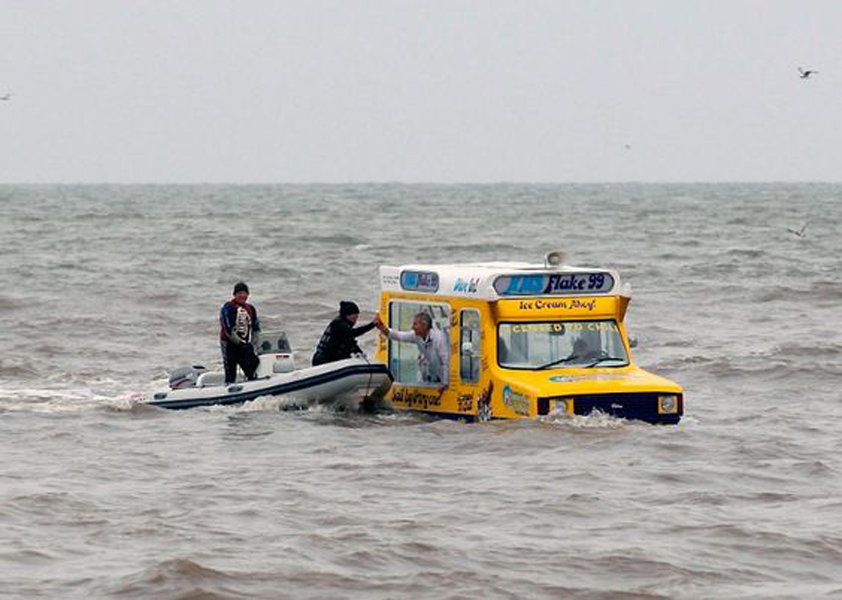 a bus as a boat??