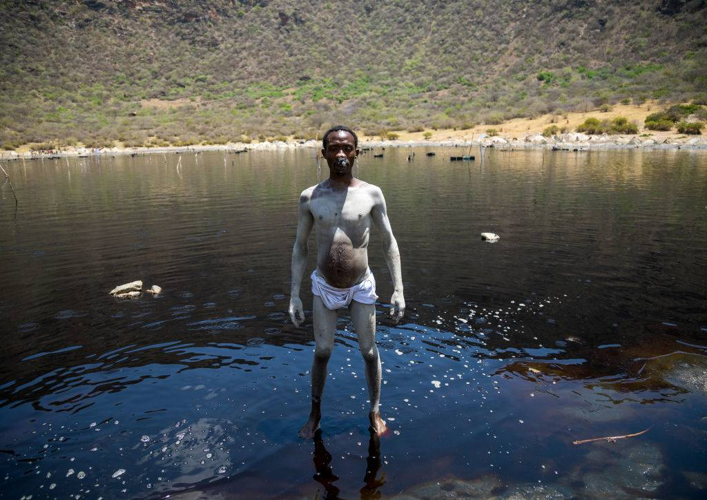 Man standing in the lake