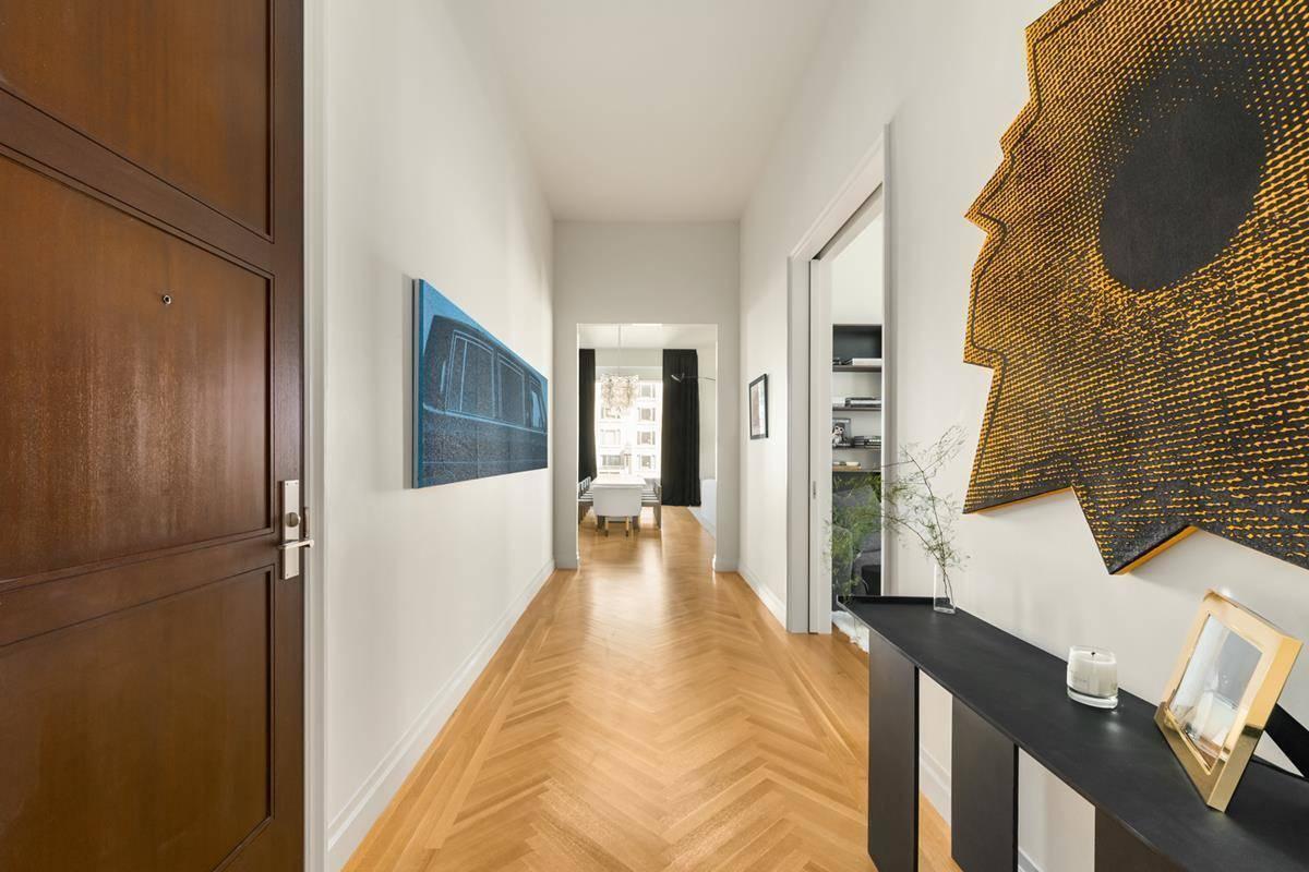 The frontdoor opens to a hallway.
