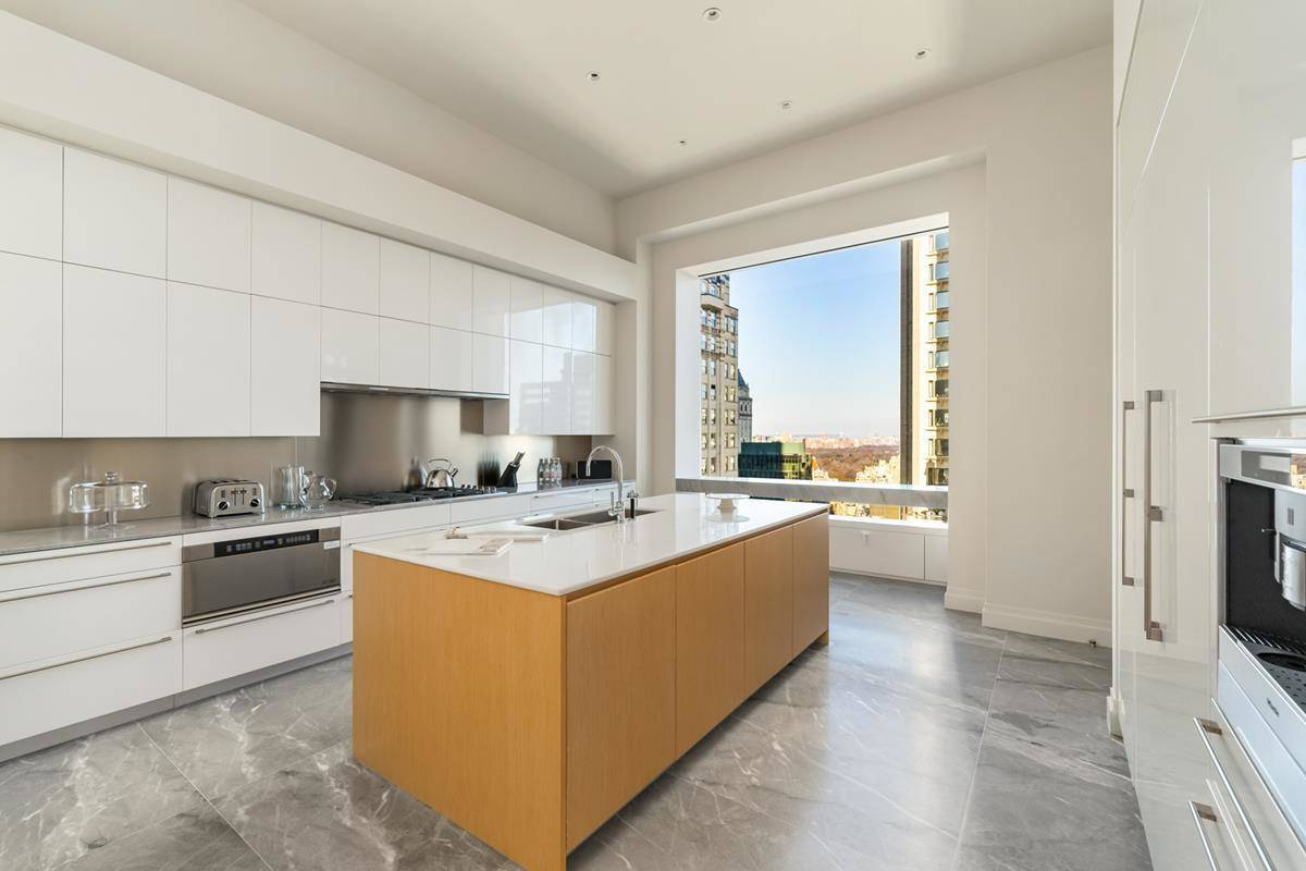 A huge kitchen is separate from the rest of the house.