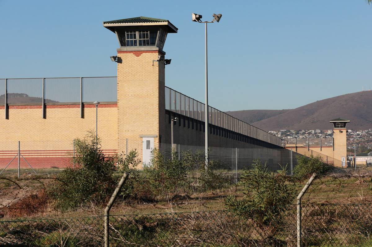 The guard towers of Goodwood Prison are seen.