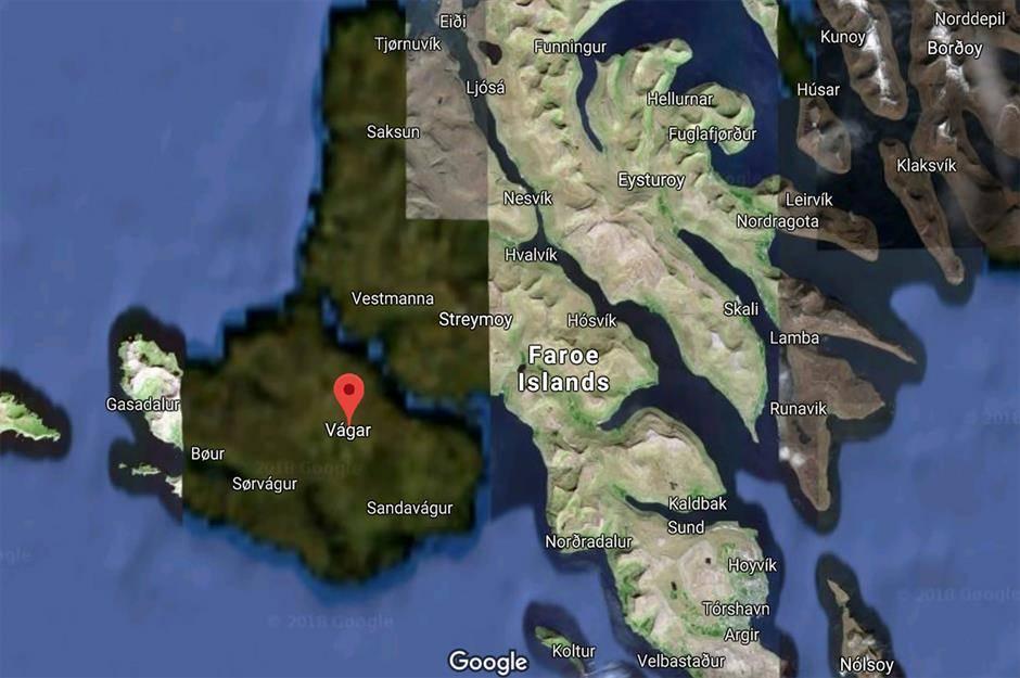 Part of the Faroe Islands appear blurred on Google Maps.
