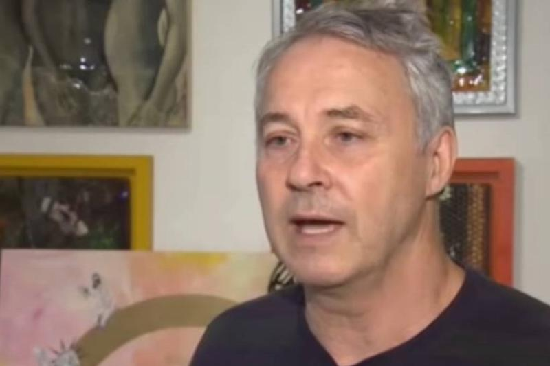 Canadian artist Paul Burgoyne interviews with CBC News.