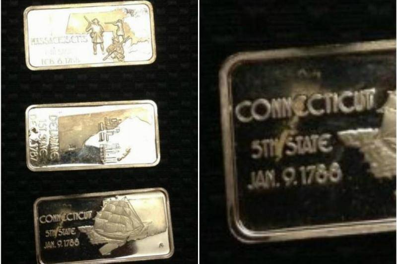 Silver Bars With Historical Inscriptions
