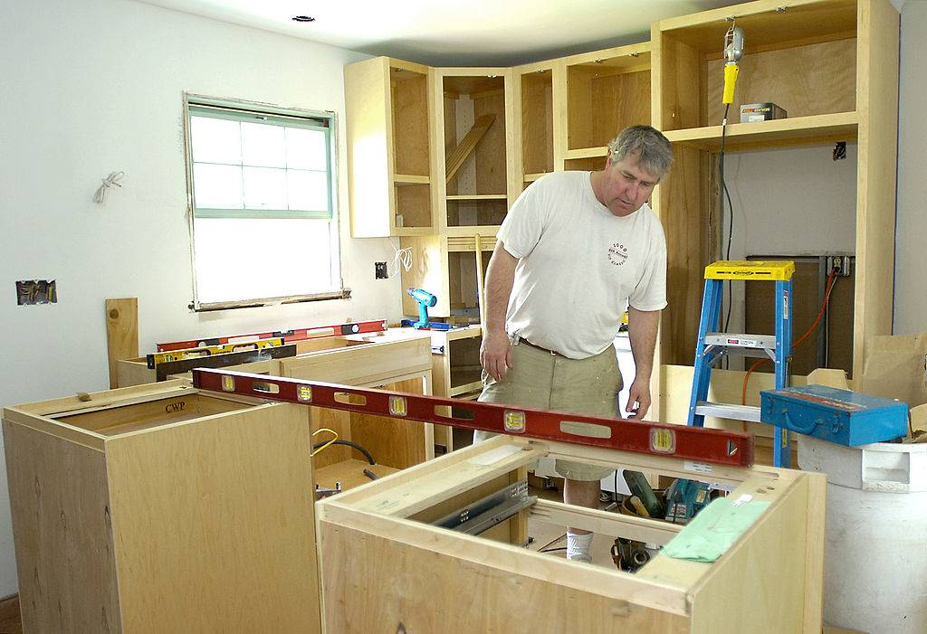 Cabinet maker Brian Nilsen