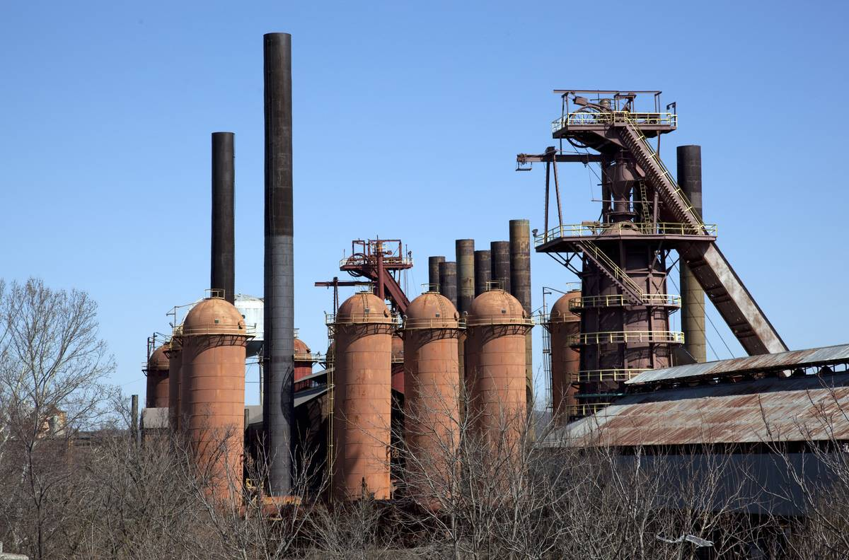 The Sloss furnaces are pictured in Alabama.