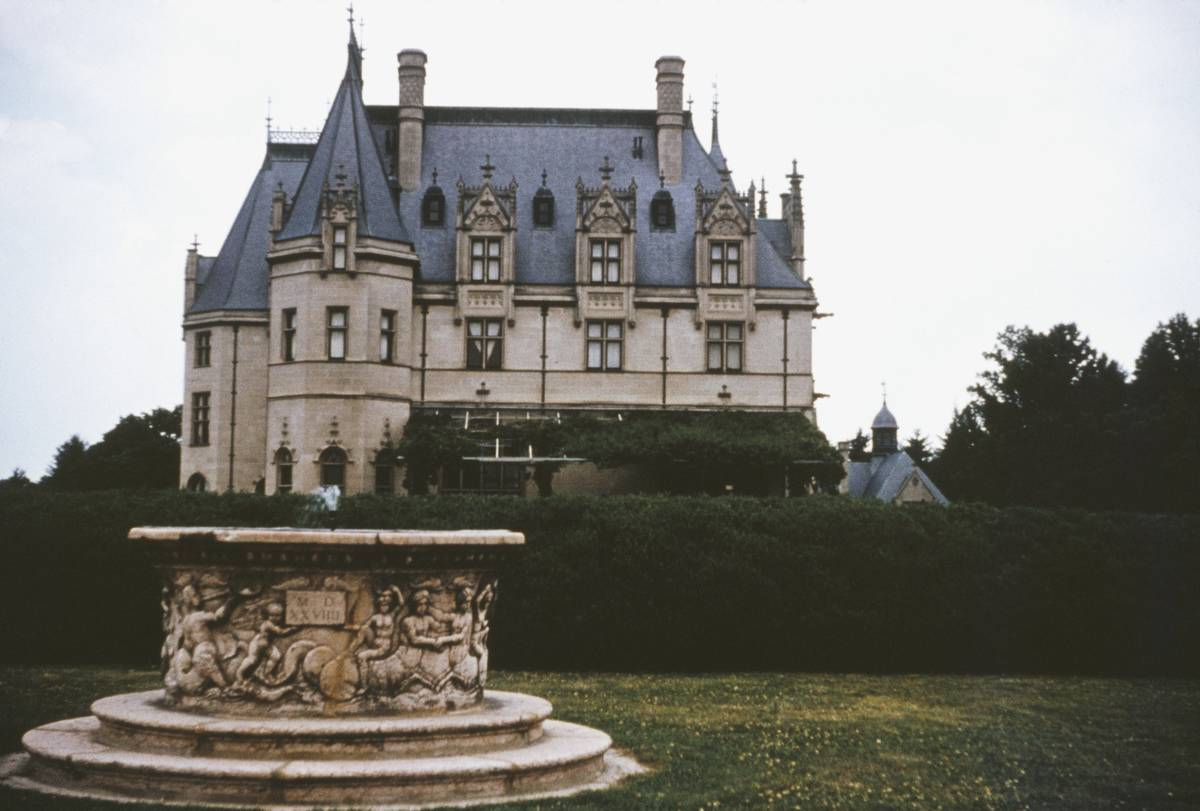 The Biltmore House is pictured from the South Terrace.