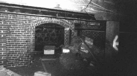 A black-and-white photo shows the underground tunnels of Portland.