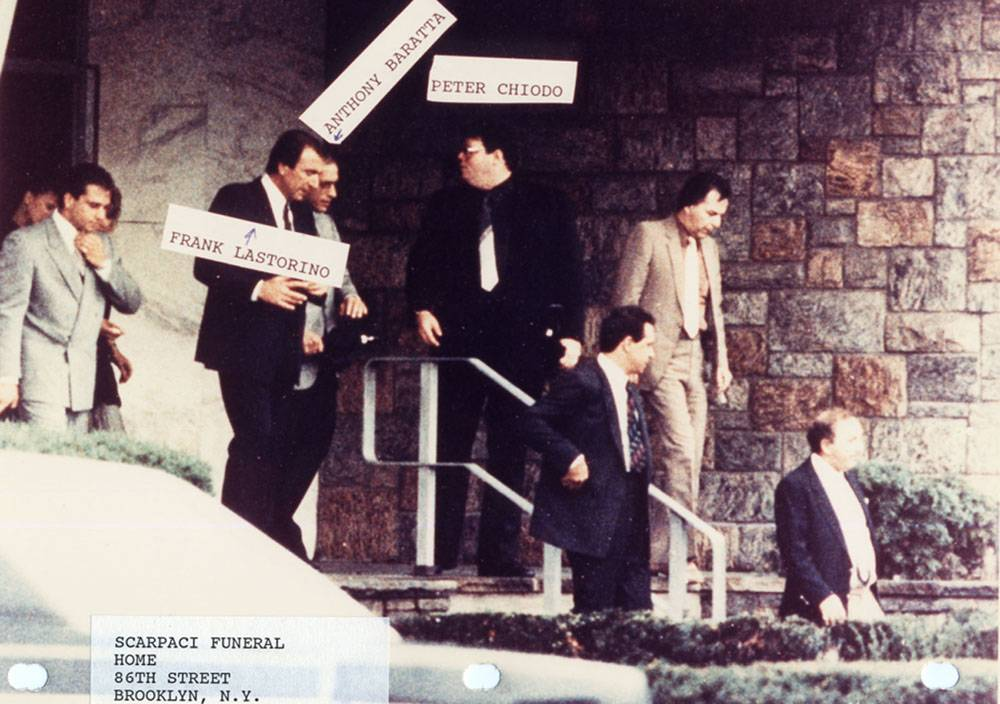 An FBI surveillance picture shows mobsters Peter Chiodo, Frank Lastorino, and Anthony Baratta.