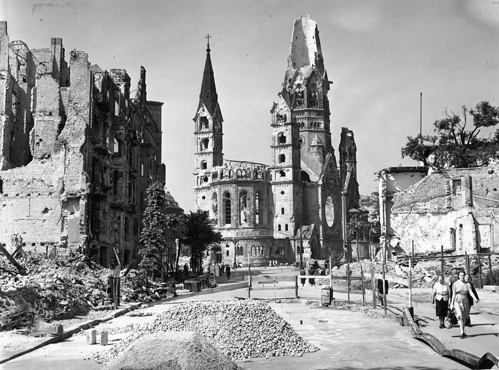Bombed city