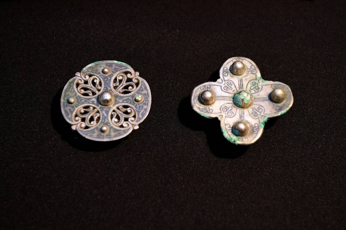 There Was Byzantium Silk, A Gold Ingot, And Six Silver Brooches
