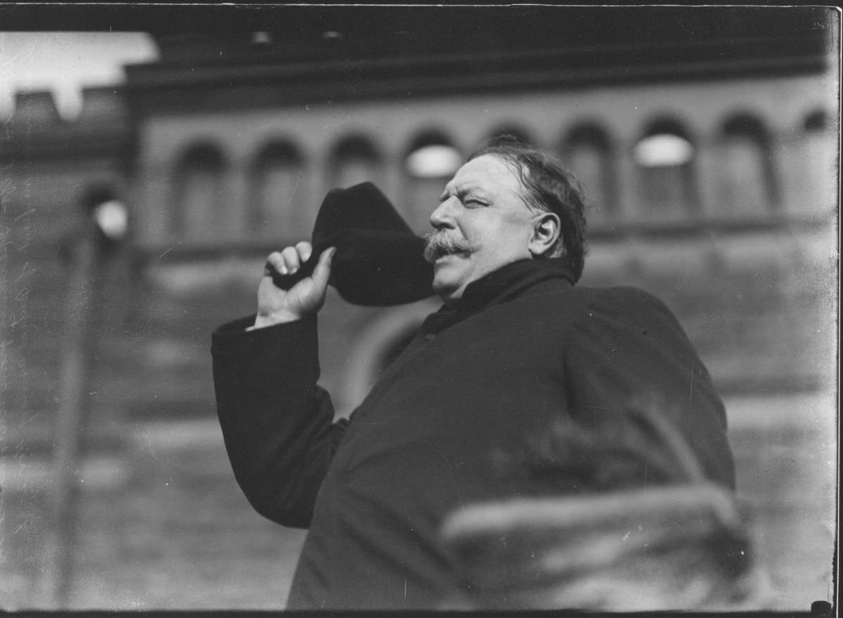 William Howard Taft speaks during a presidential campaign.
