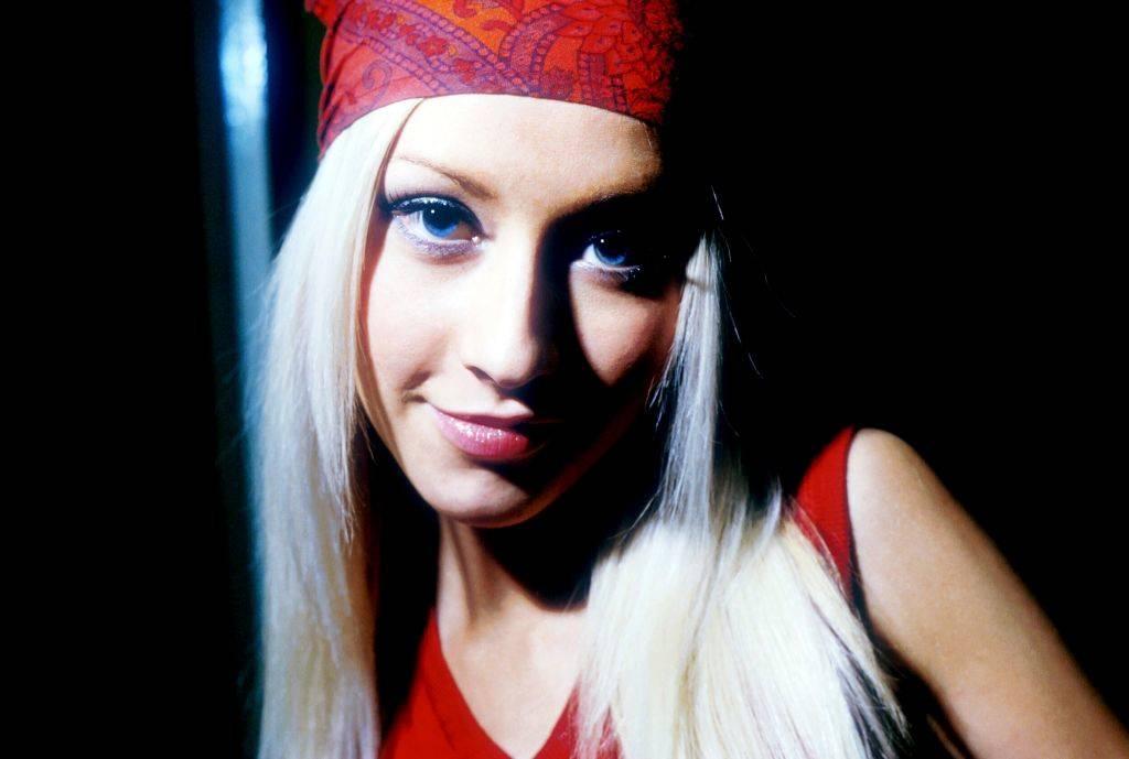 christina aguilera wearing a bandana