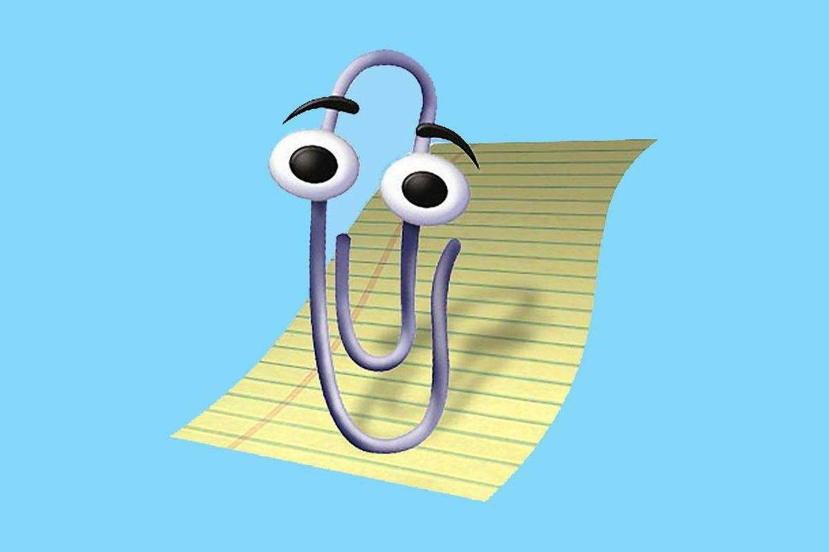 Microsoft's Clippy is illustrated.