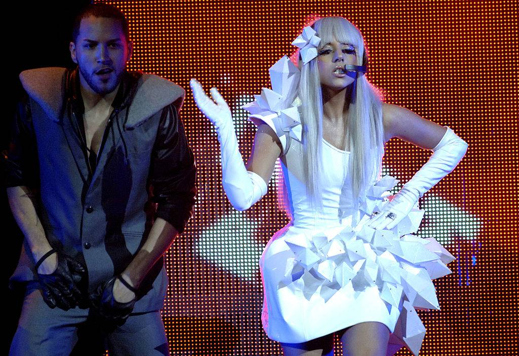 lady gaga performing on stage