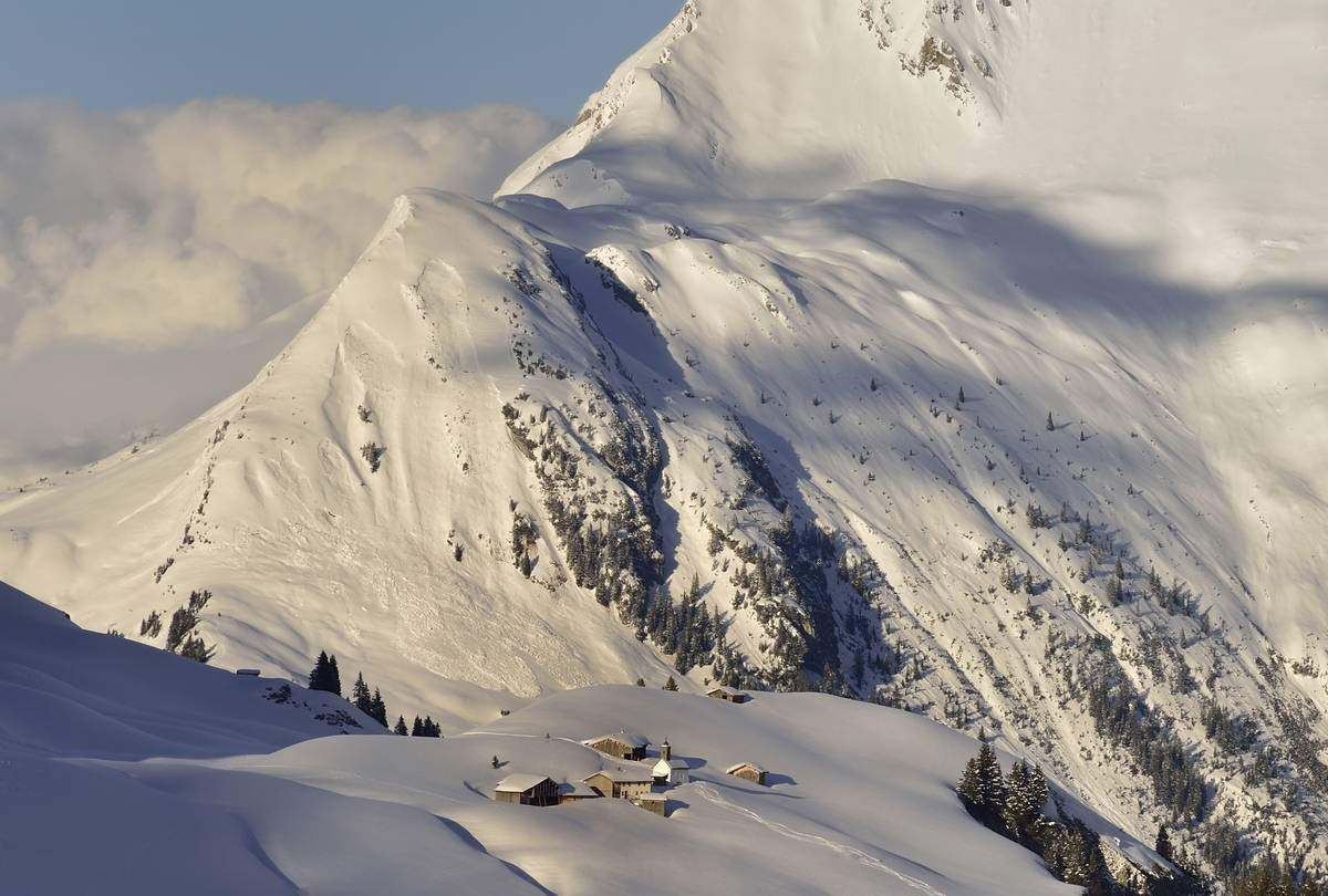 Geisbuhel alp above Lech ski resort, Arlberg