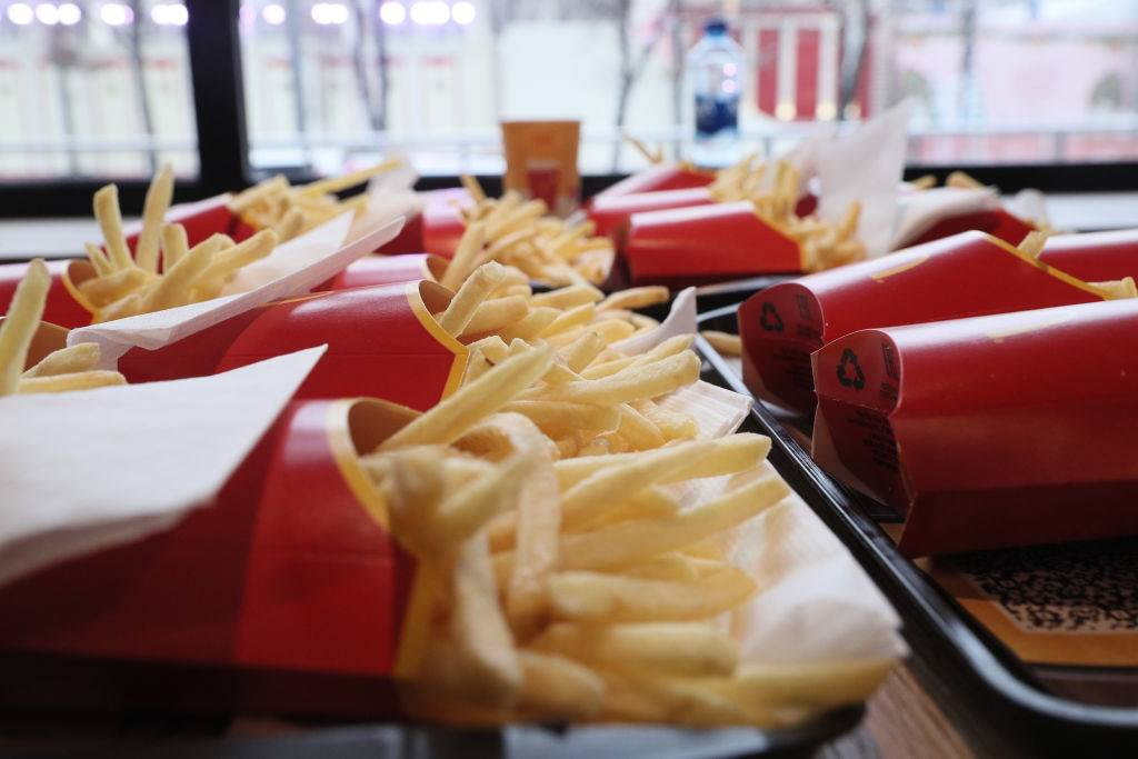 Piles of fries