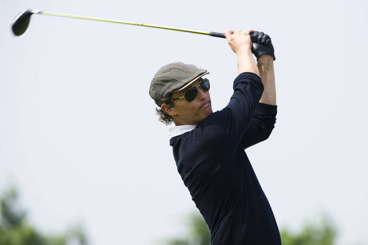 Matthew McConaughey Played Tennis And Golf