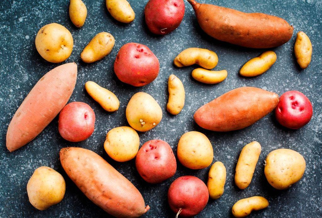 A mix of potatoes