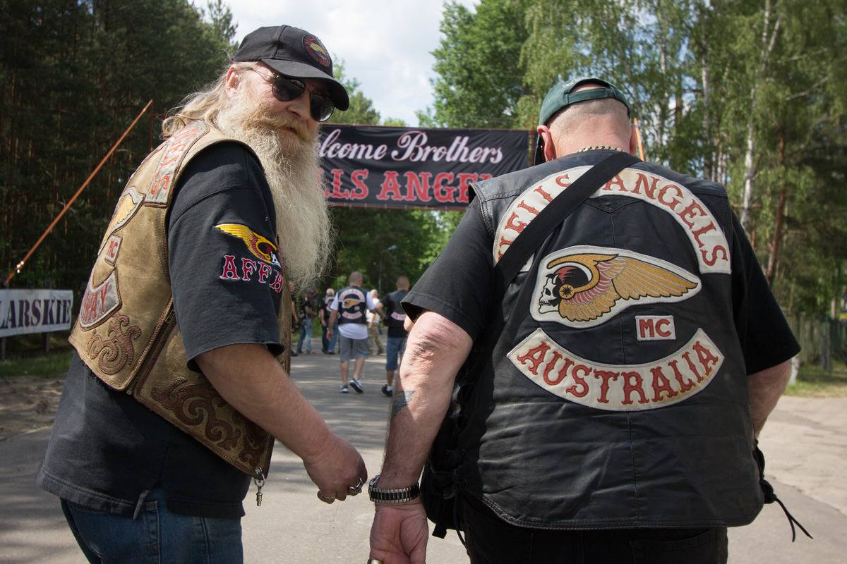 Hells Angels members gather for the 37th World Run ini Poland.