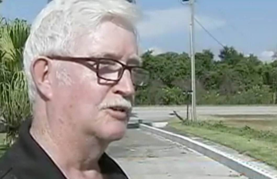 Oliver Lynch appears during a news interview.