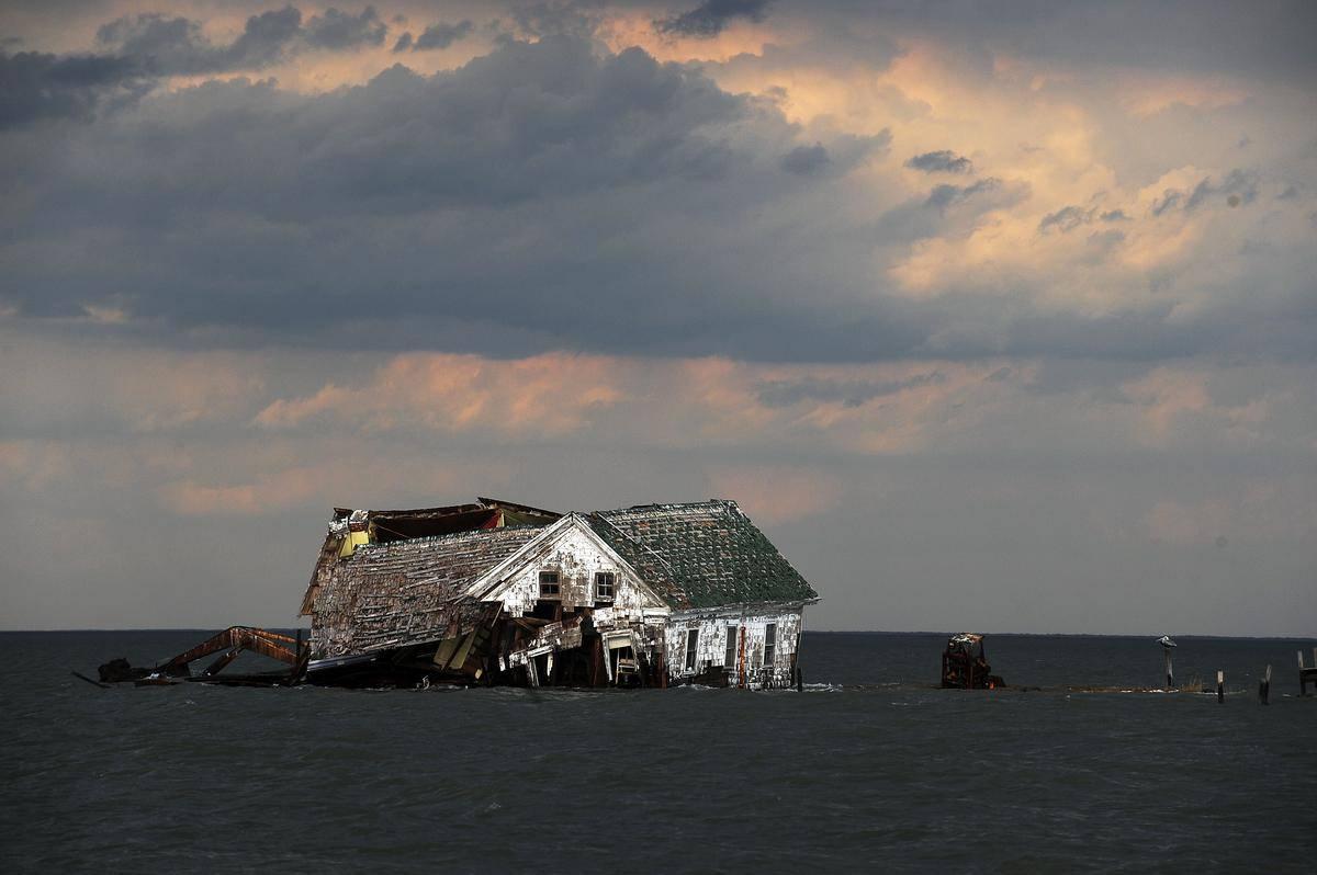 Holland Island In Maryland, U.S.A.
