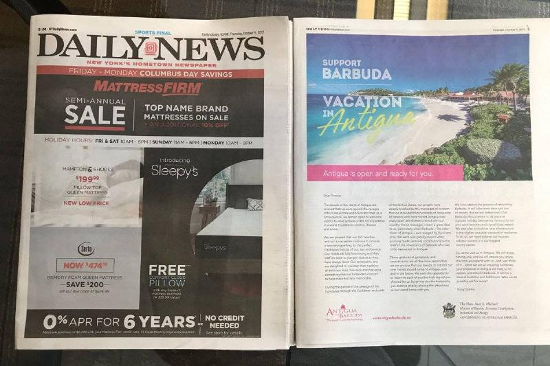 A photo shows the cover of Hometown Newspaper from New York City.
