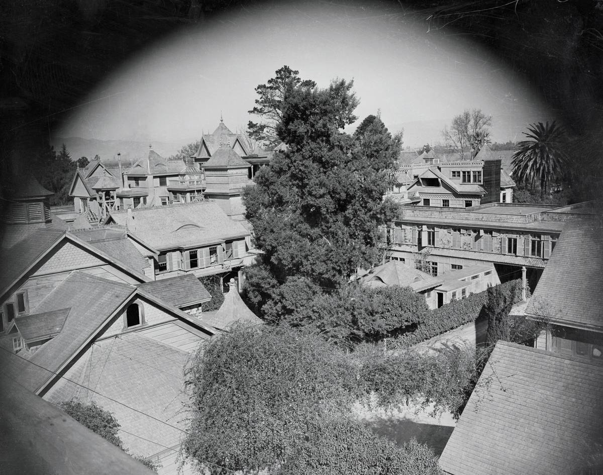 A view of San Jose shows the Winchester house in the distance.