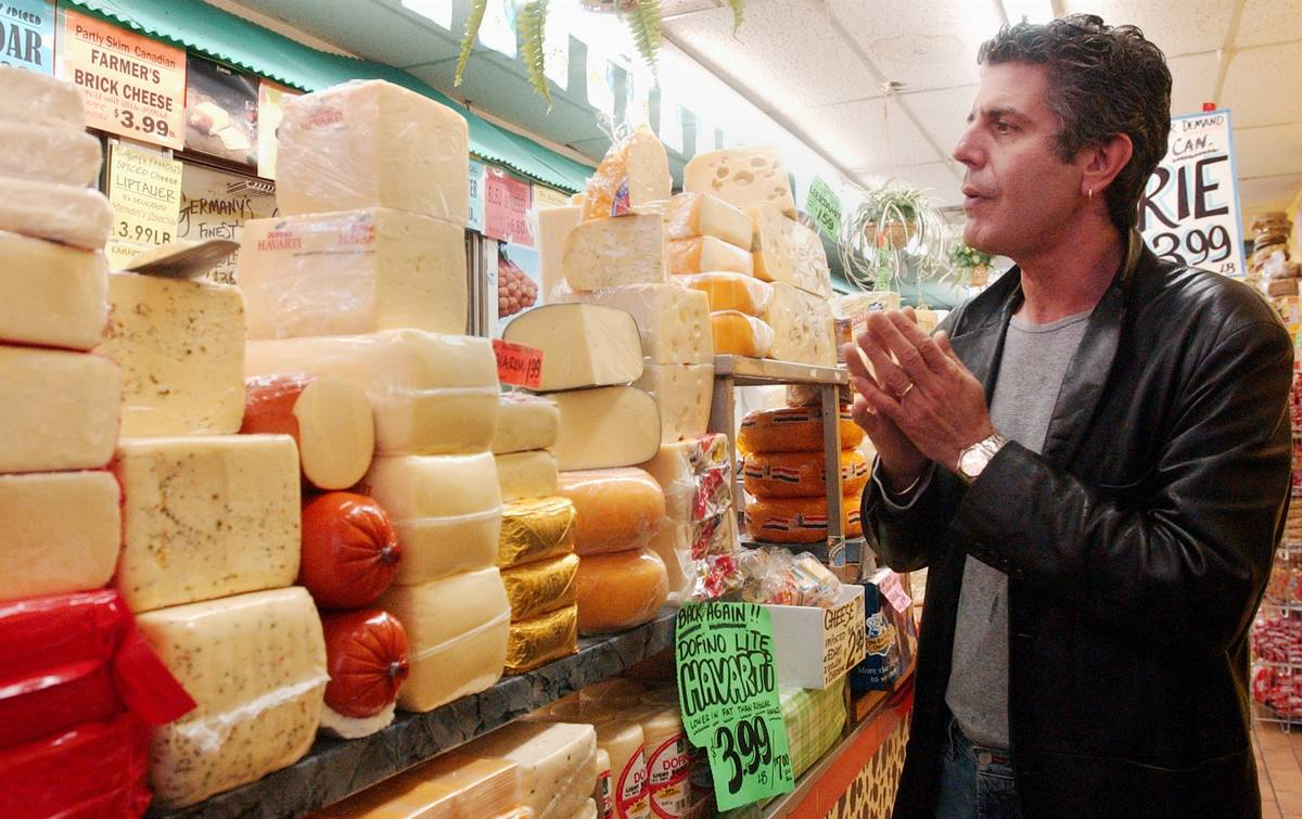 Anthony Bourdain explores a Canadian cheese shop in Toronto.