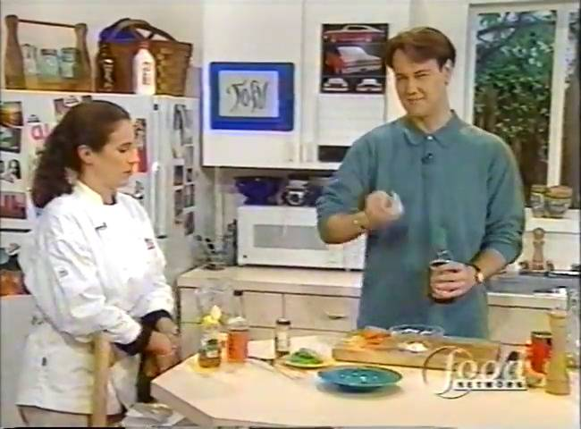 Sean Donnellan and Cathy Lowe teach people how to cook tofu on