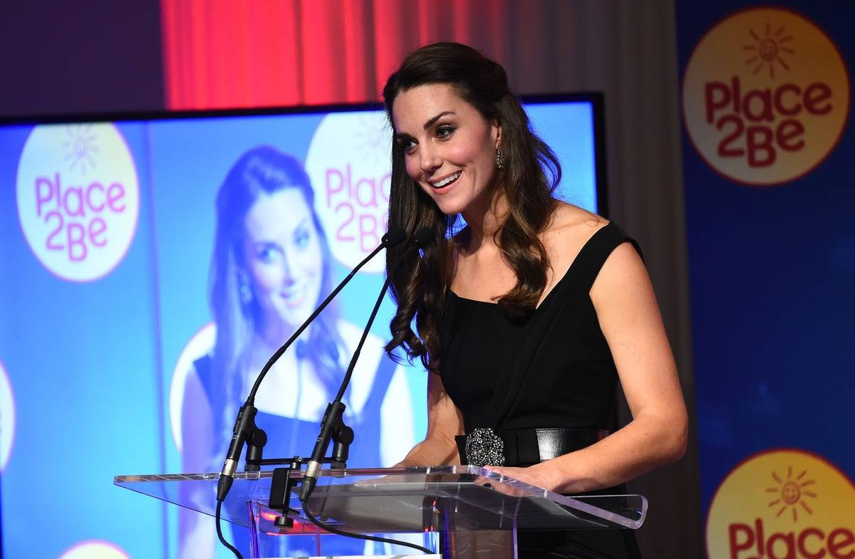 Duchess Kate Middleton speaks at the Place2Be Wellbeing in Schools charity event.