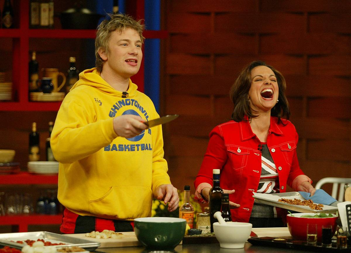 Jamie Oliver, the naked chef, is in Toronto taping an episode of Christine Cushing Live.