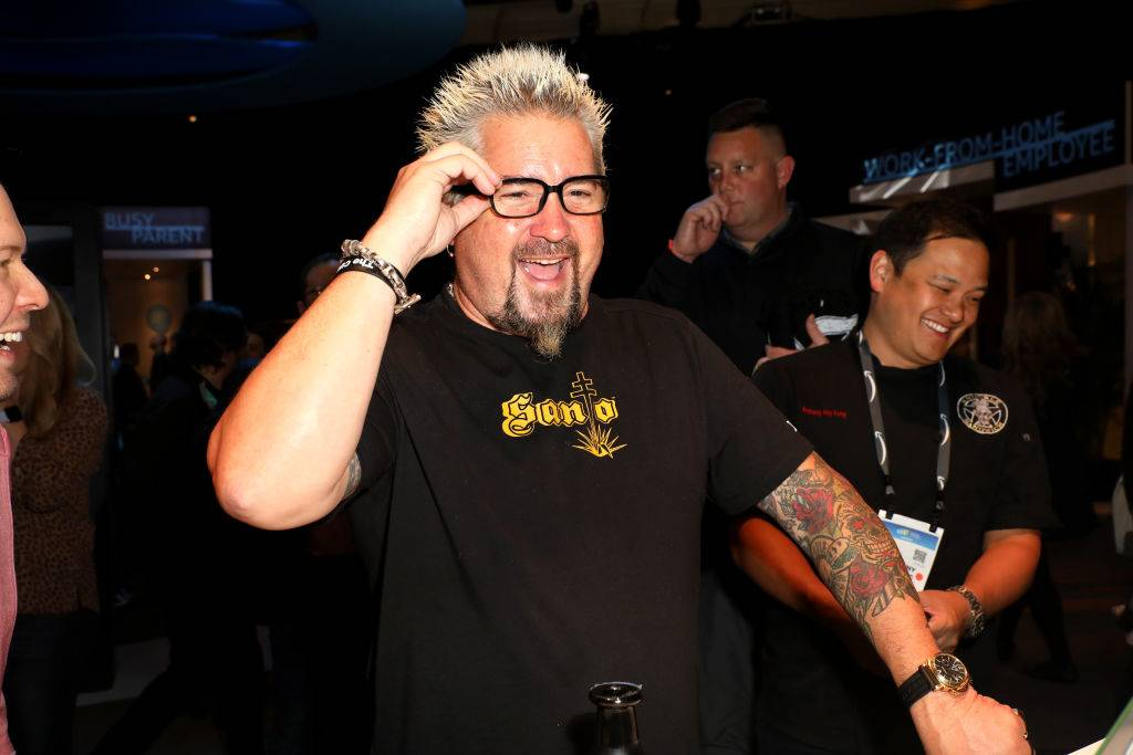 Guy Fieri smiling and talking