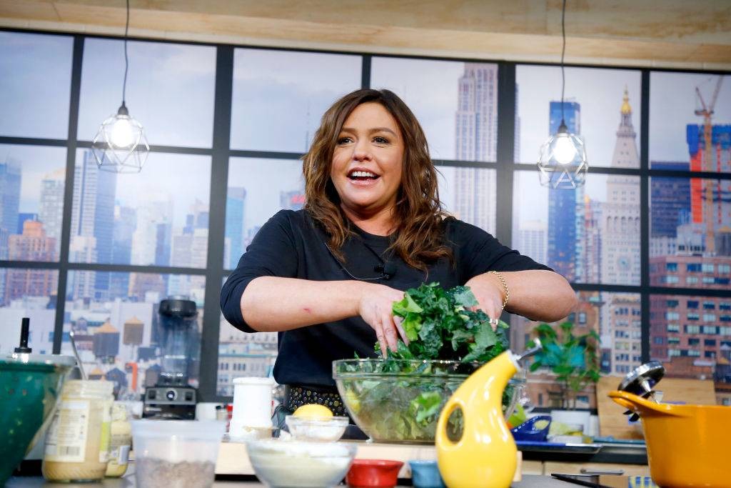 Chef Rachael Ray onstage during a culinary demonstration