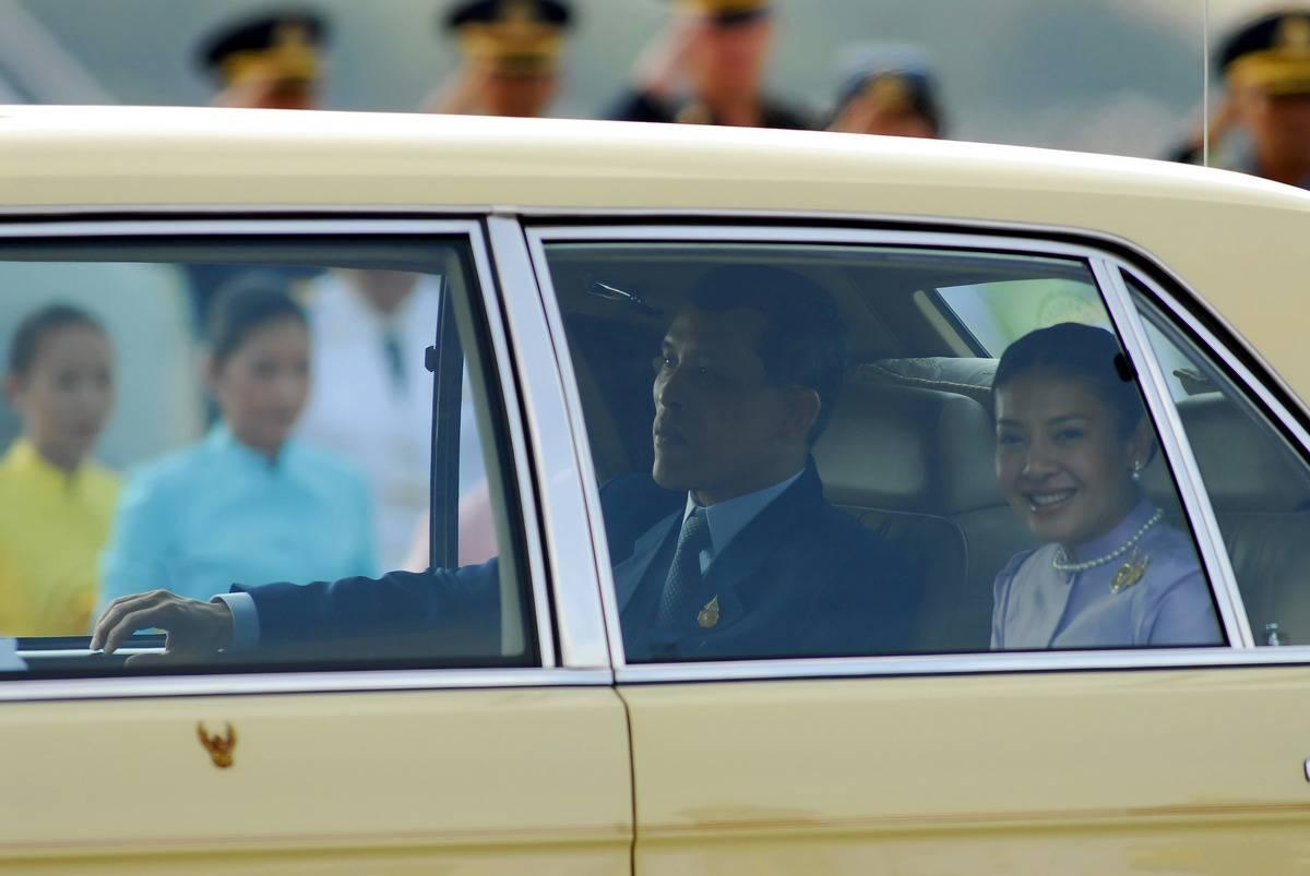 Crown Prince Maha Vajiralongkorn of Thailand, left, and his
