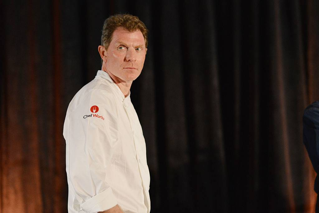 Chef Bobby Flay in his chef coat