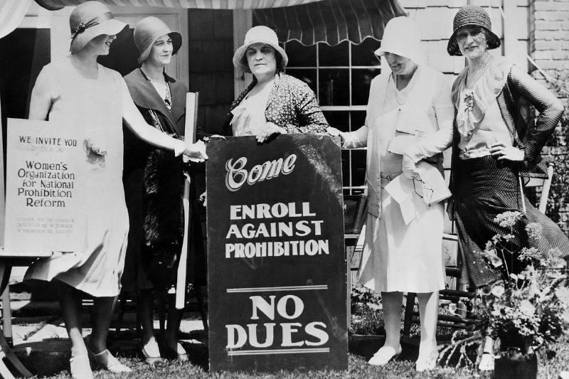 Women Camapaigning Against Prohibition