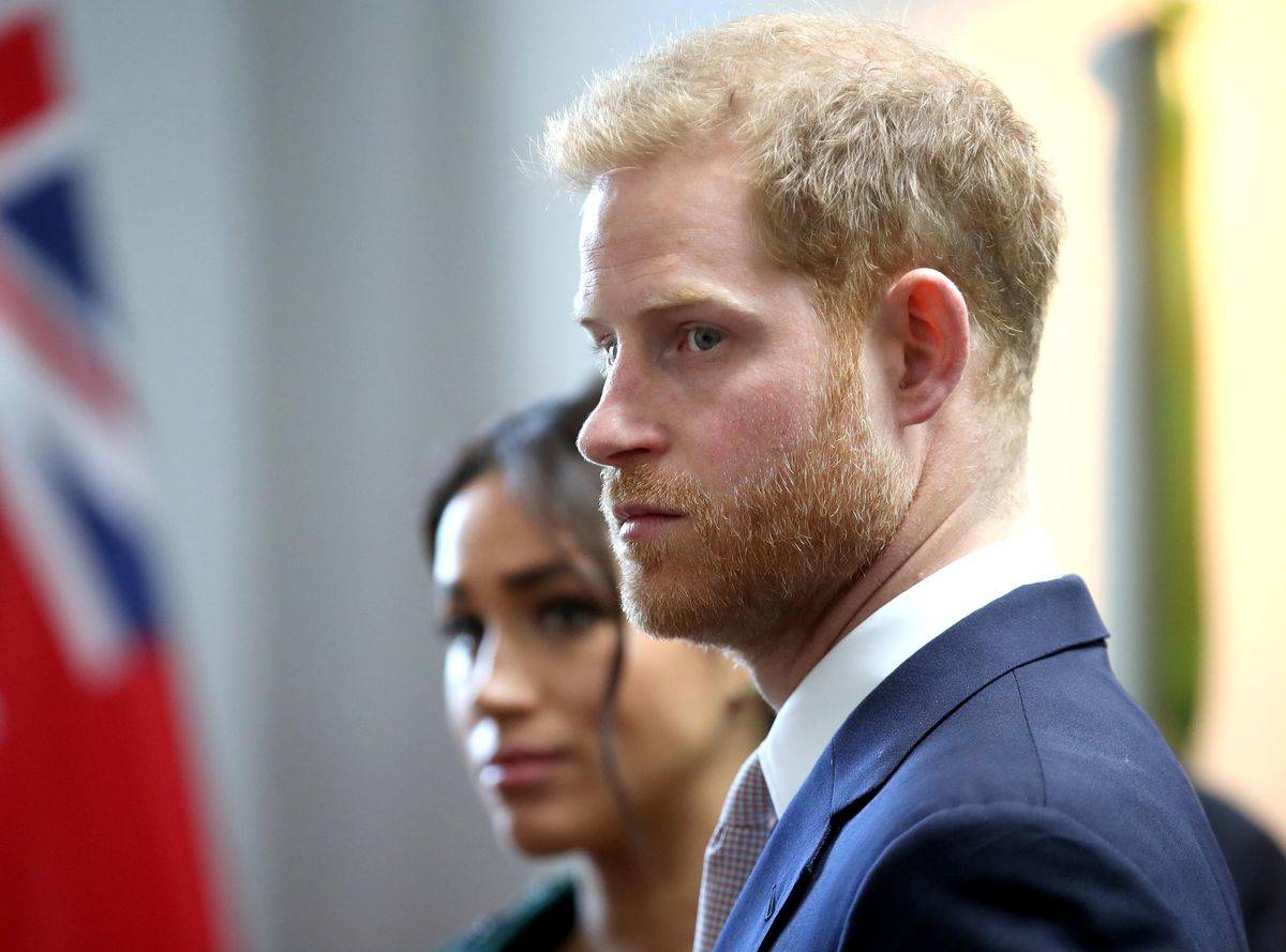 Meghan and Prince Harry attend an event at the Canada House, 2019.