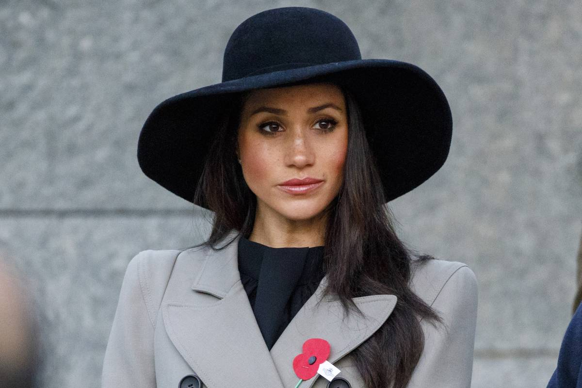 Meghan Markle attends an Anzac Day dawn service at Hyde Park.